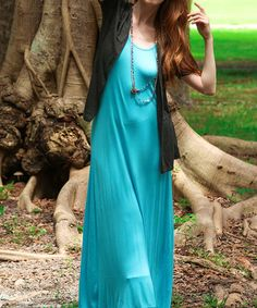 Take a look at this Ice Blue Maxi Dress on zulily today!