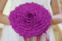paper flowers giant paper flowers paper glamelia wedding bouquet paper flowers bouquet paper wedding bouquet giant paper rose paper (55.00 USD) by FlowerDecoration