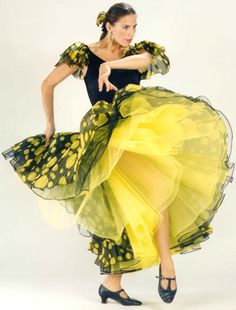 Yellow Flamenco Dancer