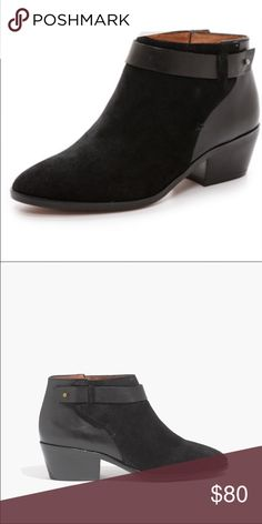 Madewell Charlie Leather and Suede Boot/Bootie These are the perfect fall boot! Love them but they are too large for me. Slight wear on heel, great overall condition! Madewell Shoes Ankle Boots & Booties