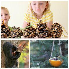 18 totally awesome bird feeder crafts for kids. I love the Lego bird feeder! Summer Crafts For Kids, Summer Activities For Kids, Science For Kids, Diy For Kids, Toddler Crafts, Preschool Crafts, Feeding Birds In Winter, Bird Feeders For Kids To Make, Bird Feeder Craft