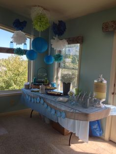 Country chic baby shower