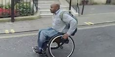A London man in a wheelchair races against the subway and scores a very important point. Repinned by Venture Community Services.