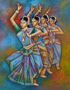 18 Ideas For Dancing Art Painting Indian Dance Paintings, Indian Art Paintings, India Painting, Fabric Painting, Painting Art, Indian Folk Art, Indian Artist, Dancing Drawings, Art Drawings