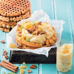 Carrot Cake Waffles #Waffles #Breakfast #Recipe #SouthAfrica