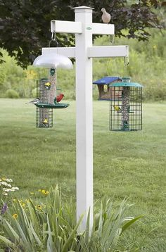 "Duncraft 4 x 4 Masterpiece 84"" Quad Hanging Bird Feeding Station Duncraft http://smile.amazon.com/dp/B00GNO1NB2/ref=cm_sw_r_pi_dp_nWiyvb0GPKDMD"
