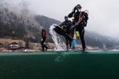 Eistauchkurs, 3/4 Pension & Wellness - 2 Nächte ab € 479,00 pro Person. #eistauchen #weissensee #eistauchkurs #icediver #icediving #undertheice #padi #padiicedivier  © www.hotel-moser.at