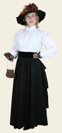 Ladies Edwardian Outfit.  Great site for Edwardian costumes.