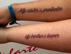Brother and Sister tattoo