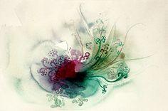 De mi serie: semillas Acuarela sobre papel. <3