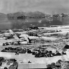 Location: Kai Tak Airport, Hong Kong. Circa 1946, Short Sunderland Mk.V flying boats of en:No. 209 Squadron RAF (visible in the middle left ...