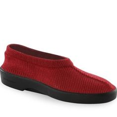 """Arcopedico Classic Women's Red Shoe Casual Slip On 42 Medium Under 1"""" Heel Height Arch Supportive, Stretchable Uppers, Bunions, Hammertoes,"""