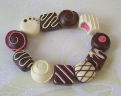 My Chocolate Assortment Beads made by myself from polymer clay.