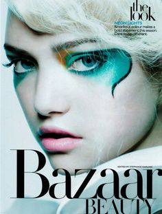 Gemma Ward for Hapers Bazaar Beauty Mascara, Eyeliner, Eyeshadow, Make Up Art, Eye Make Up, Makeup Inspo, Makeup Inspiration, Makeup Ideas, Makeup Style