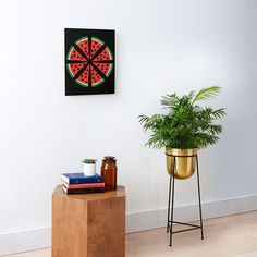 """""""Watermelon Slices"""" Mounted Print by Pultzar   Redbubble"""