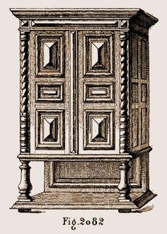 armoire louis xiii avec croix de malte typologie des meubles pinterest inventaire le 17. Black Bedroom Furniture Sets. Home Design Ideas