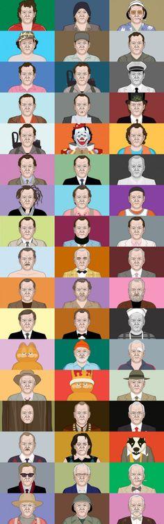 Las muchas caras de Bill Murray: ¿Cuántas Cómo lo sabes?