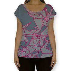 Camiseta fullprint Origami de @fabiolagreco | Colab55