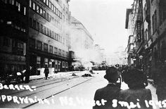 Opprydning i NS. 8 Mai 1945, Bergen, Ww2, Norway, Times Square, Street View, Travel, Trips, Traveling
