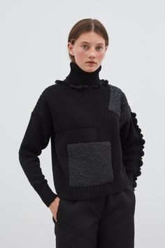 Franki   Cecilie Bahnsen - Official website & online store Timeless Fashion, Men Sweater, Jumper, Ready To Wear, Couture, Turtle Neck, Knitting, Studio, Cotton