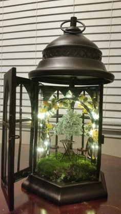 Diy fairy garden lantern