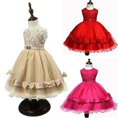 Flower-Girl-Princess-Sleeveless-Dress-Wedding-Bridesmaid-Holiday-Summer-Party