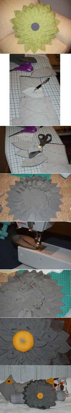 DIY Dahlia Flower Pillow