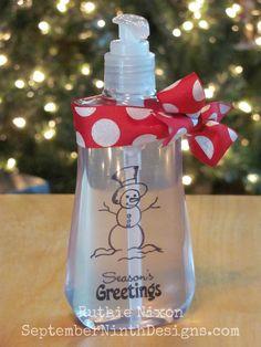 September Ninth: clear plastic stamped insert inside soap!