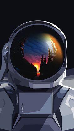 Space Artwork, Wallpaper Space, Galaxy Wallpaper, Cool Wallpaper, Mobile Wallpaper, Iphone Wallpaper, Wallpaper Wallpapers, Bel Art, Astronaut Wallpaper