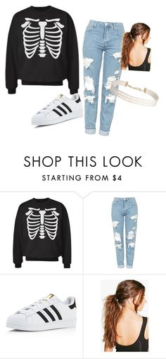 """""""Halloween """" by phoridavies on Polyvore featuring Topshop, adidas, Boohoo and Humble Chic"""