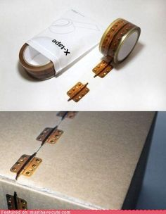 Hinge Tape! I can think of a couple of craft ideas for this--where can I find this???