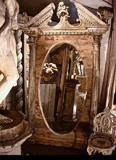 Create by Elise Valdorcia and her husband Laurent Potart in 2007 Old Mirrors, Mirror Mirror, For Elise, Inspired Homes, Luxury Interior, Decoration, Old World, My Dream Home, Oversized Mirror