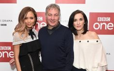 Thandie Newton with Jed Mercurio and Vicky McClure at the launch of Line Of Duty