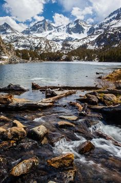 Long Lake at Little Lakes Valley, Eastern Sierras, California.  A day hike when staying at Rock Creek Lake.