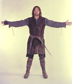 A man's outfit with chain mail underneath. < um you're dumb...this is Aragorn son of arathorn. Heir to the throne of Gondor. You owe him your allegience!