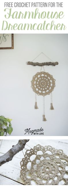 "A Free Pattern for the Jute Farmhouse ""Dreamcatcher"" Wall Hanging — Megmade with Love"