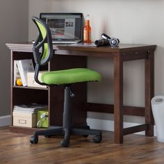 Classic Playtime Espresso Student Desk with Optional Shelves - Give your student a contemporary set-up for success with the Classic Playtime Espresso Student Desk with Optional Shelves . This simple but beautifully...
