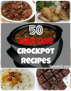 Fifty great crockpot recipes for an easy meal that your entire family will enjoy!