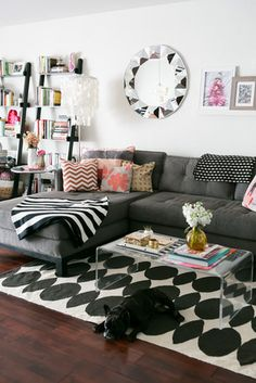 I love the couch, the pillows, and the floors