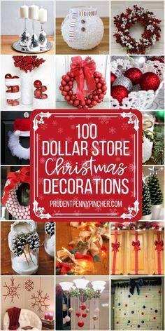 100 DIY Dollar Store Christmas Decor Ideas