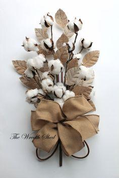 Cotton Anniversary Bouquet, 2nd Anniversary Gift, Natural Cotton Bolls, Cotton Arrangement, Bridal Bouquet, Wedding Decor, Burlap Leaves
