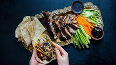 Pečená kachna po asijsku: kachna na zázvoru a medu Pho, Japchae, Steak, Tacos, Mexican, Ethnic Recipes, Steaks, Mexicans