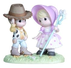 """Precious Moments, Disney Showcase Collection """"Howdy Ma'am"""", Bisque Porcelain Figurine, Just as politely as Sheriff Woody would greet Bo Peep in one of the popular Disney Disney Precious Moments, Precious Moments Quotes, Precious Moments Figurines, Disney Figurines, Collectible Figurines, Biscuit, Toy Story Movie, Little Bo Peep, Popular Toys"""