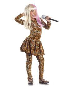 80a2cad9e4 Party King Tan Leopard Rap Superstar Dress-Up Set - Girls