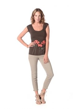Synergy Organic Clothing | Poppy Emma Top in Coffee - Tops - Sale