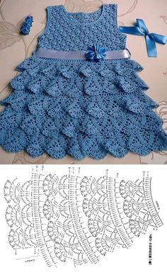 Crochet Baby Poncho, Crochet Baby Dress Pattern, Baby Girl Crochet, Crochet Baby Clothes, Crochet Dress Girl, Crochet Dresses, Crochet Blouse, Easy Crochet, Baby Clothes Patterns