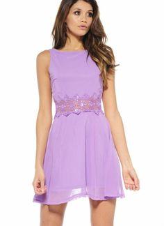 Light Purple Sleeveless Casual Dress
