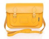 Zatchel Yellow Leather Satchel