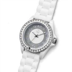 """1 escarchadas relojes pulsera /""""Sparkle/"""" en color plata"""
