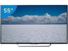 """Smart TV LED 55"""" Sony 4K Ultra HD KD-55X7005D - Android TV Conversor Digital Wi-Fi 4 HDMI 3 USB"""